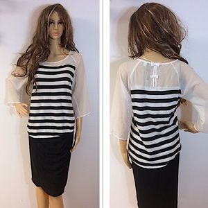 LC LAUREN CONRAD STRIPED BLOUSE